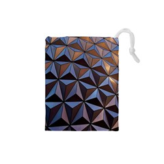 Background Geometric Shapes Drawstring Pouches (small)