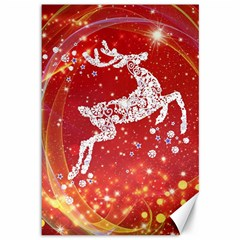 Background Reindeer Christmas Canvas 12  X 18   by Nexatart