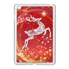 Background Reindeer Christmas Apple Ipad Mini Case (white)