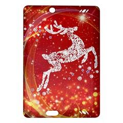 Background Reindeer Christmas Amazon Kindle Fire Hd (2013) Hardshell Case