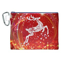 Background Reindeer Christmas Canvas Cosmetic Bag (xxl) by Nexatart