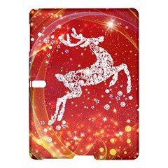 Background Reindeer Christmas Samsung Galaxy Tab S (10 5 ) Hardshell Case  by Nexatart