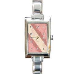 Background Pink Great Floral Design Rectangle Italian Charm Watch by Nexatart
