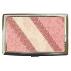 Background Pink Great Floral Design Cigarette Money Cases