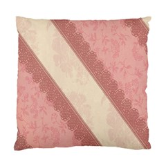 Background Pink Great Floral Design Standard Cushion Case (one Side)