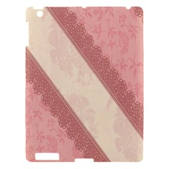 Background Pink Great Floral Design Apple Ipad 3/4 Hardshell Case by Nexatart