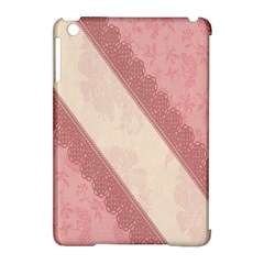 Background Pink Great Floral Design Apple Ipad Mini Hardshell Case (compatible With Smart Cover)