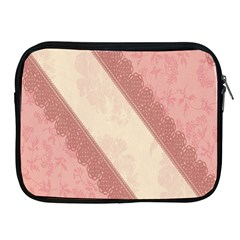 Background Pink Great Floral Design Apple Ipad 2/3/4 Zipper Cases
