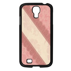 Background Pink Great Floral Design Samsung Galaxy S4 I9500/ I9505 Case (black) by Nexatart
