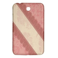 Background Pink Great Floral Design Samsung Galaxy Tab 3 (7 ) P3200 Hardshell Case  by Nexatart