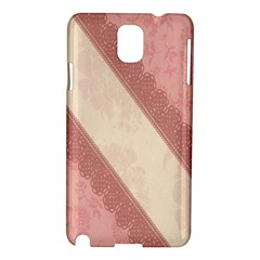 Background Pink Great Floral Design Samsung Galaxy Note 3 N9005 Hardshell Case