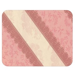 Background Pink Great Floral Design Double Sided Flano Blanket (medium)
