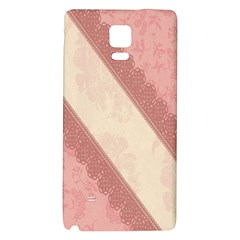Background Pink Great Floral Design Galaxy Note 4 Back Case by Nexatart