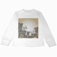 Background Retro Abstract Pattern Kids Long Sleeve T Shirts