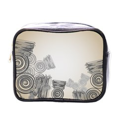 Background Retro Abstract Pattern Mini Toiletries Bags
