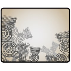 Background Retro Abstract Pattern Fleece Blanket (medium)