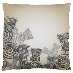 Background Retro Abstract Pattern Large Cushion Case (two Sides)