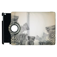 Background Retro Abstract Pattern Apple Ipad 2 Flip 360 Case by Nexatart