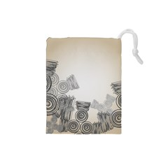 Background Retro Abstract Pattern Drawstring Pouches (small)