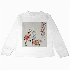 Background Scrapbook Paper Asian Kids Long Sleeve T Shirts