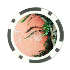 Background Stone Wall Pink Tree Poker Chip Card Guard