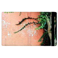 Background Stone Wall Pink Tree Apple Ipad 2 Flip Case by Nexatart