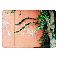 Background Stone Wall Pink Tree Samsung Galaxy Tab 8 9  P7300 Flip Case