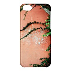 Background Stone Wall Pink Tree Apple Iphone 5c Hardshell Case