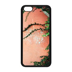 Background Stone Wall Pink Tree Apple Iphone 5c Seamless Case (black)