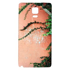 Background Stone Wall Pink Tree Galaxy Note 4 Back Case by Nexatart