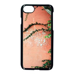 Background Stone Wall Pink Tree Apple Iphone 7 Seamless Case (black) by Nexatart
