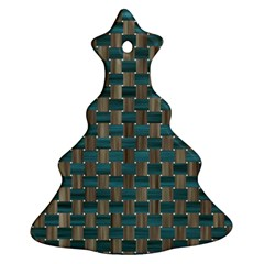 Background Vert Christmas Tree Ornament (two Sides)