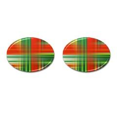 Background Texture Structure Green Cufflinks (Oval) by Nexatart