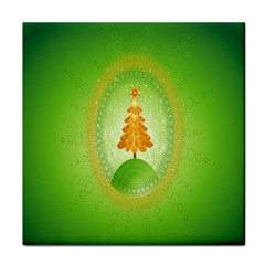 Beautiful Christmas Tree Design Tile Coasters by Nexatart