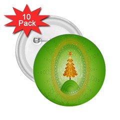 Beautiful Christmas Tree Design 2 25  Buttons (10 Pack)