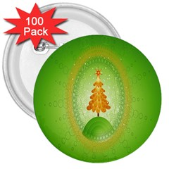 Beautiful Christmas Tree Design 3  Buttons (100 Pack)  by Nexatart