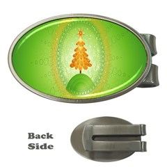 Beautiful Christmas Tree Design Money Clips (oval)  by Nexatart