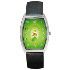 Beautiful Christmas Tree Design Barrel Style Metal Watch