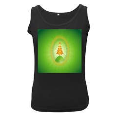 Beautiful Christmas Tree Design Women s Black Tank Top