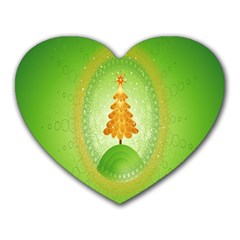Beautiful Christmas Tree Design Heart Mousepads by Nexatart