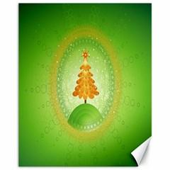 Beautiful Christmas Tree Design Canvas 11  X 14   by Nexatart