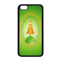 Beautiful Christmas Tree Design Apple Iphone 5c Seamless Case (black)