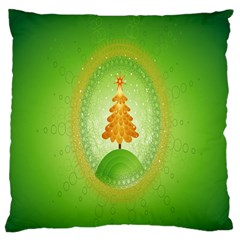 Beautiful Christmas Tree Design Large Flano Cushion Case (two Sides)