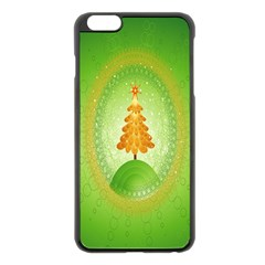 Beautiful Christmas Tree Design Apple Iphone 6 Plus/6s Plus Black Enamel Case