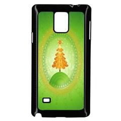 Beautiful Christmas Tree Design Samsung Galaxy Note 4 Case (black) by Nexatart