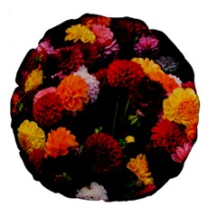 Beautifull Flowers Large 18  Premium Round Cushions by Nexatart