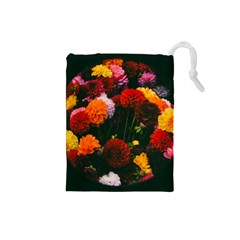 Beautifull Flowers Drawstring Pouches (small)