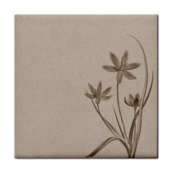 Background Vintage Drawing Sepia Tile Coasters by Nexatart