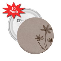 Background Vintage Drawing Sepia 2 25  Buttons (10 Pack)