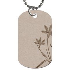 Background Vintage Drawing Sepia Dog Tag (two Sides)